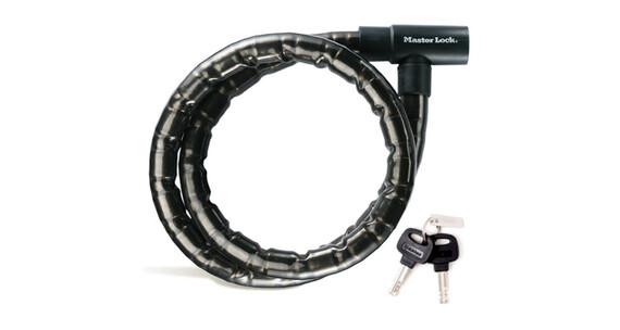 Masterlock 8218 PanzR Zapięcie kablowe 22 mm x 2.000 mm czarny